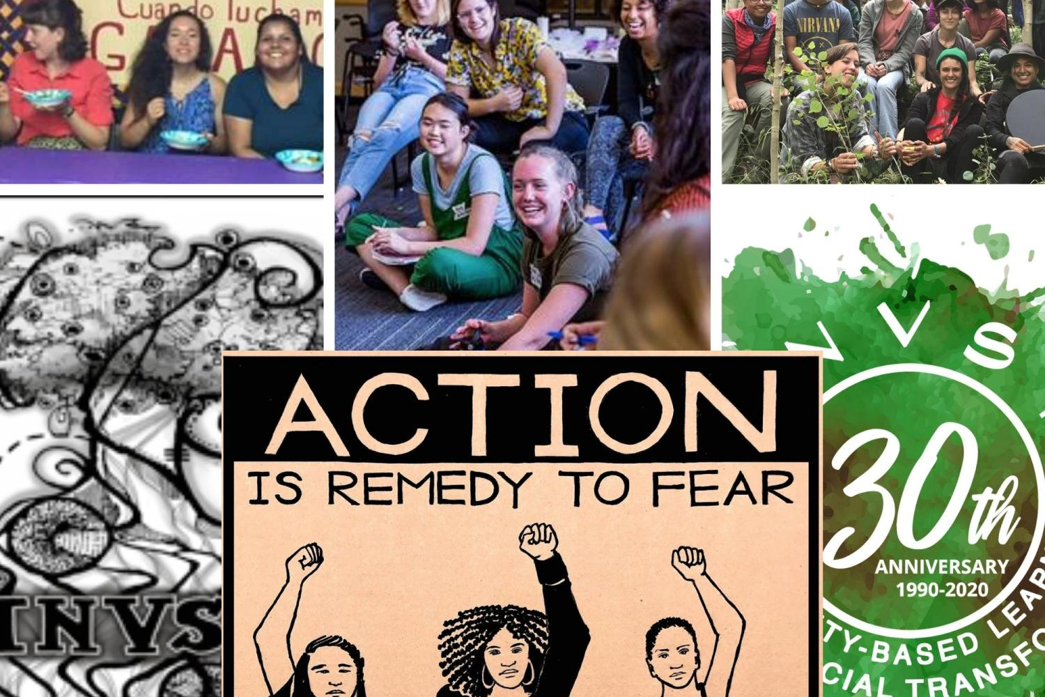 INVST Anniversary Collage - Action is remedy to fear