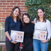 INVST students Alicia Sanchez book Lafayette Latino Clinica