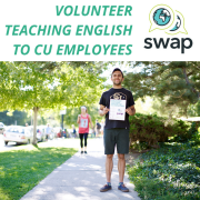 SWAP: volunteer teaching English to CU Employees