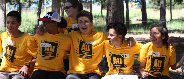 Gold Shirt students