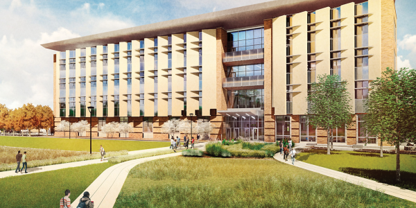 Aerospace building rendering