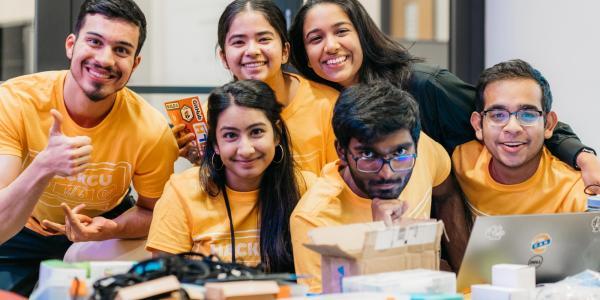 CS Students at Hack CU