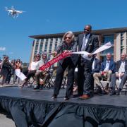 CU Boulder aerospace engineering sciences building ribbon cutting