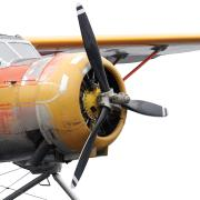 yellow and orange airplane photo