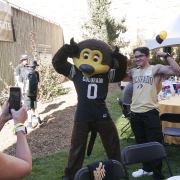 Chip and alumni at 2019 CU Engineering Homecoming tailgate