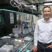 Greg Rieker in his lab at CU Boulder