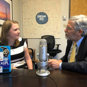 John Holdren podcast with a female student