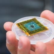 close up of micro chip
