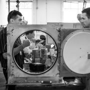 Mark Matossian working in his lab