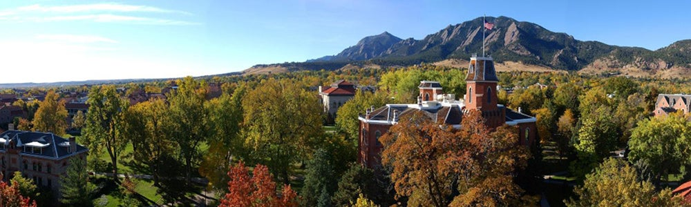 Old Main and the Flatirons