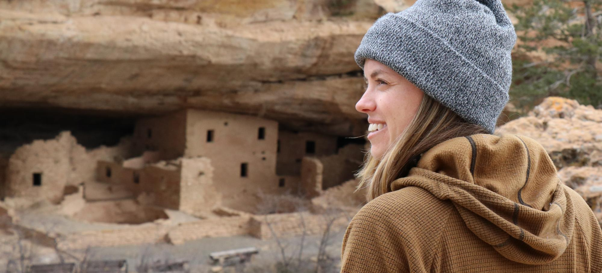 Grad student at Mesa Verde National Park