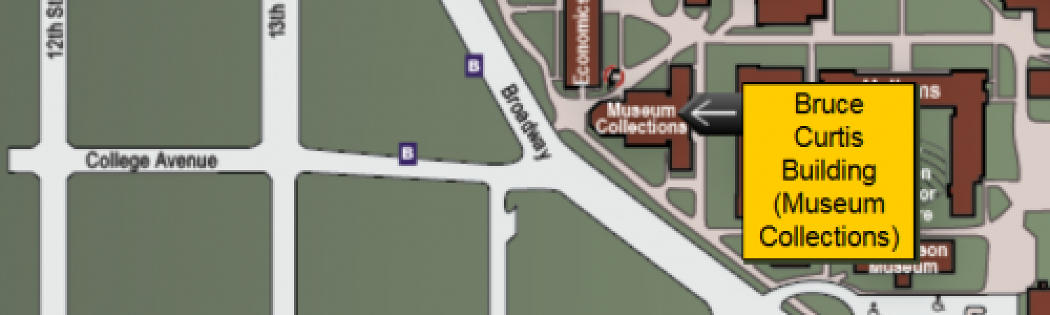 Map of CU featuring the Bruce Curtis Building (Museum Collections)