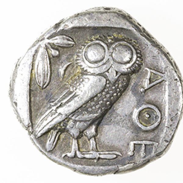 Owl on a coin