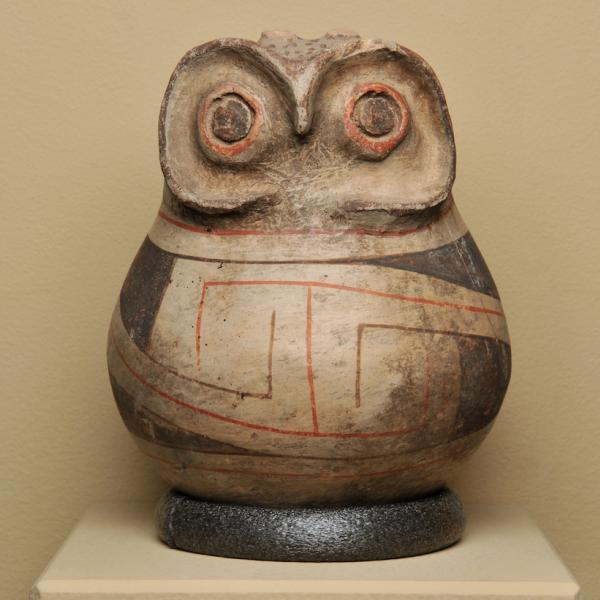 Owl effigy pot