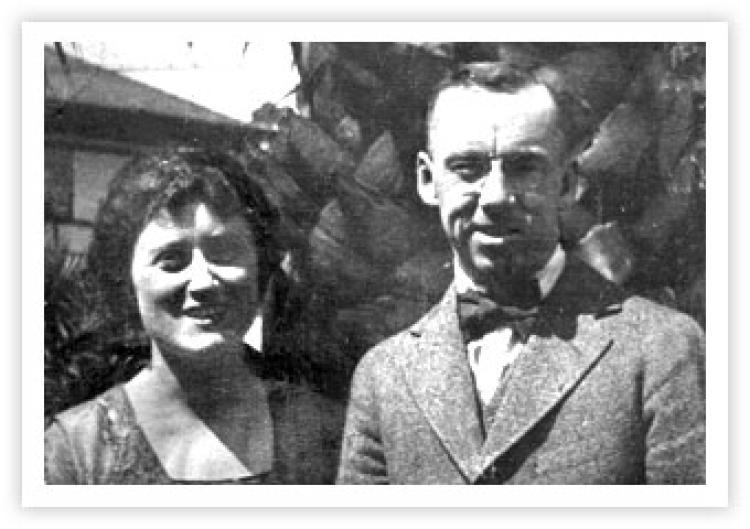 Ida and her husband William E. Pemberton. Date unknown.