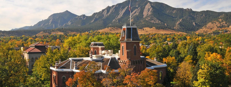 campus near mountains