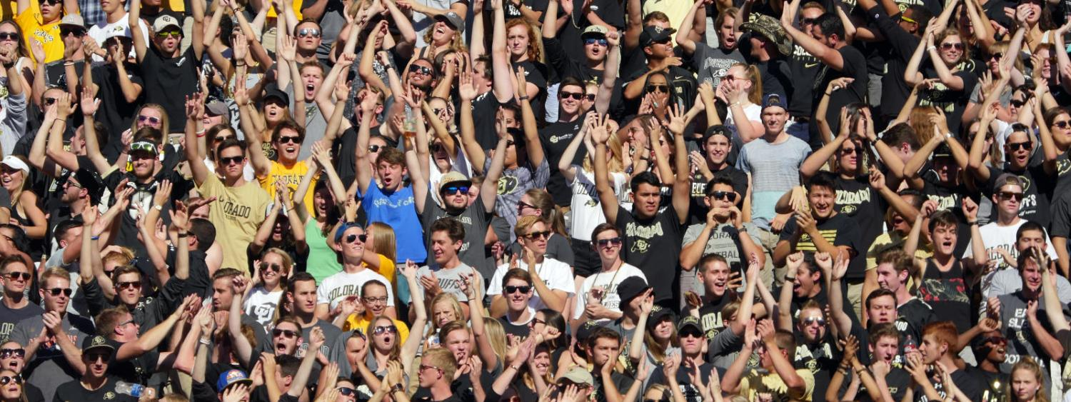 CU fans at football game