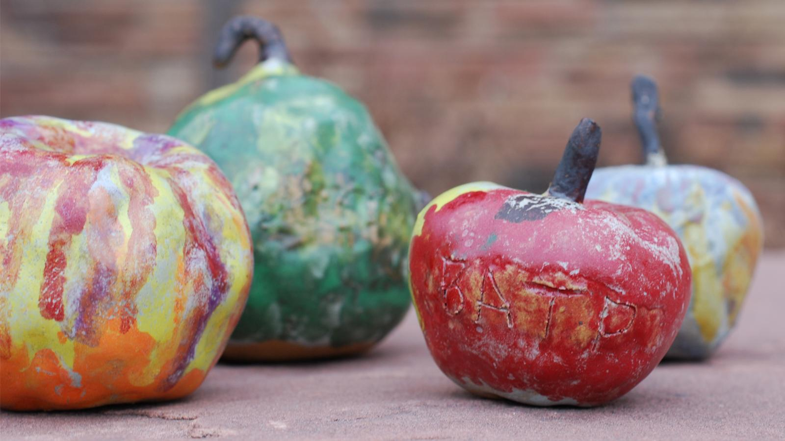 ceramic painted apples