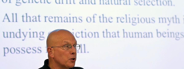 Mylan Engel giving a talk at RoME IV