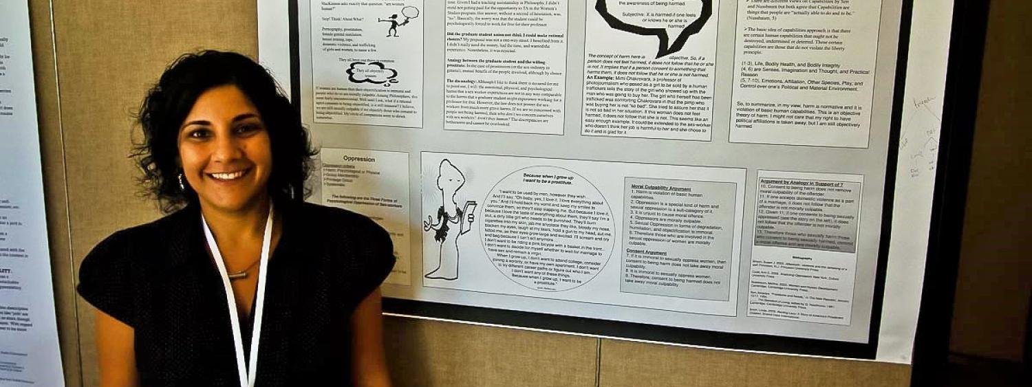 Roksana Alavi (South Texas College) during the poster session at RoME III