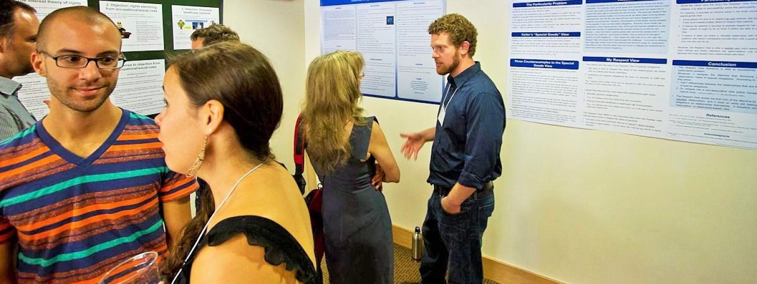Poster session at CVSP's Rocky Mountain Ethics Congress V