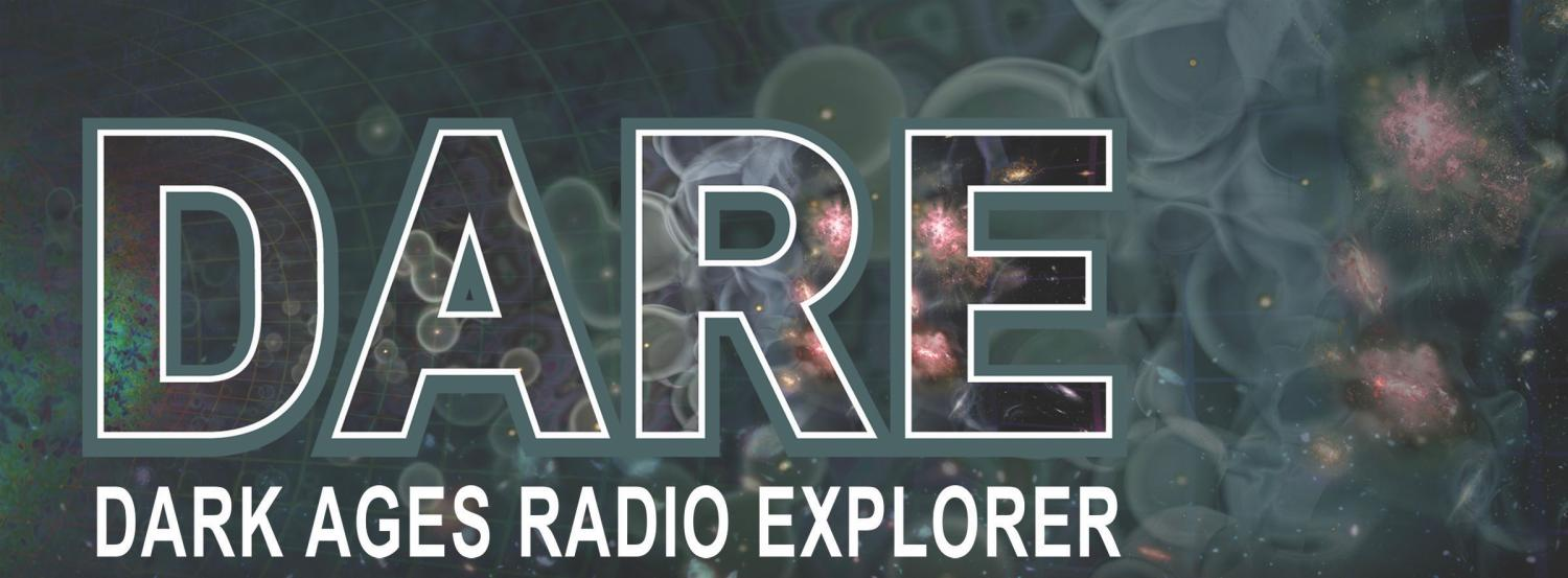 DARE cover image with text and cosmic dawn in background