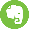 Evernote logo - green circle with an elephant in the center
