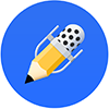 Notability logo - pencil with a microphone on the end