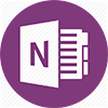 "OneNote logo - Purple circle with an ""N"" in the middle"
