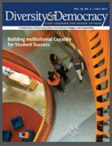 The cover of the Diversity and Democracy publication