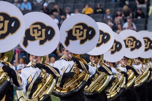 CU Boulder marching band