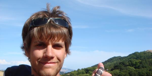 Daniel Preston holding a snake