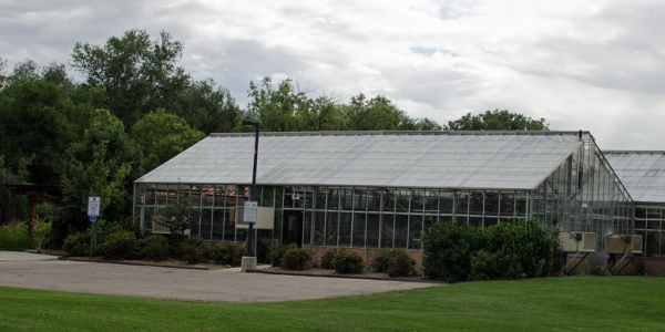 East campus greenhouses wide shot
