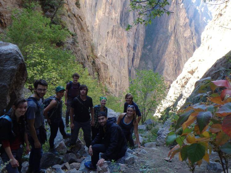 Photo of Erin Tripp's students in Black Canyon.