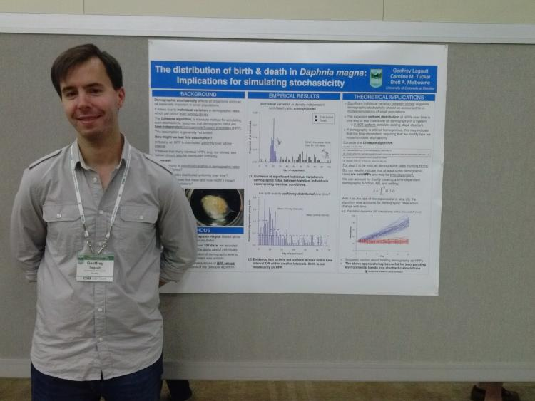 Photo of Geoff Legault in front of his poster.