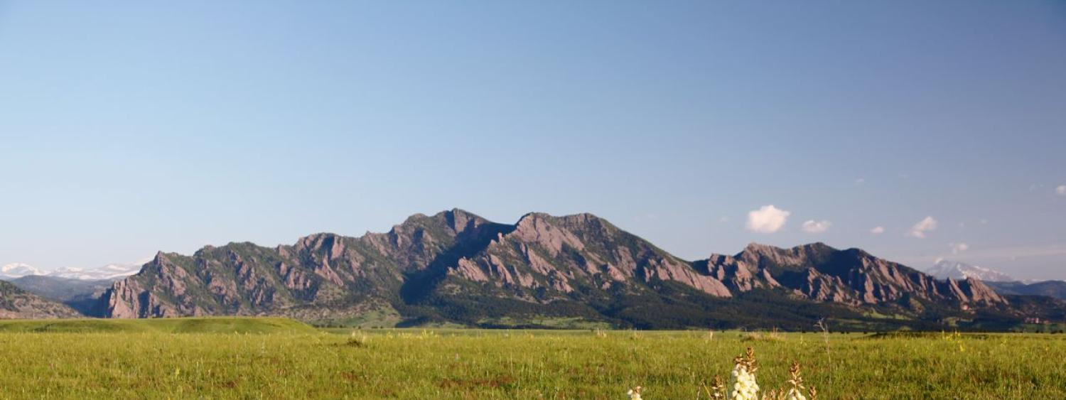 View of the flatirons - photo by Jeff Mitton