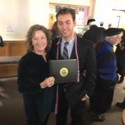Dan receiving his honors degree