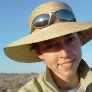 Abbey Paulson with hat in desert