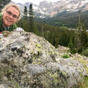 Max posing with a pika on a rock in niwot ridge wilderness area