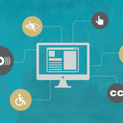 oit accessibility poster, computer with icons for disability services