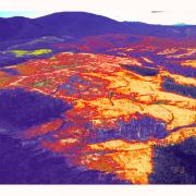 thermal interpretation of a fragmented landscape