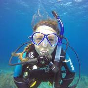 Kate scuba diving