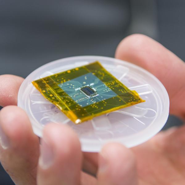Close-up of a microprocessor