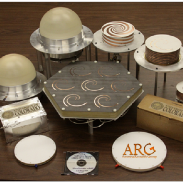A display of antennas from the Antenna Research Group