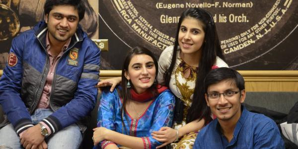 Members of the Indian Student Association relax during Diwali 2015
