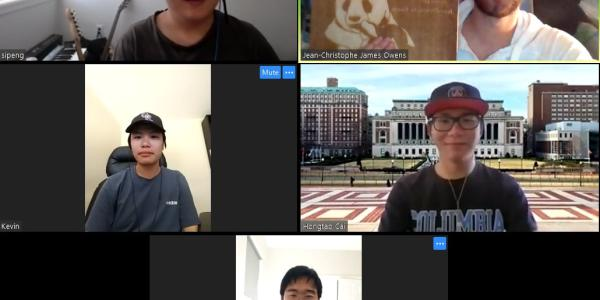 A Zoom meeting screenshot of the 90% Asian team