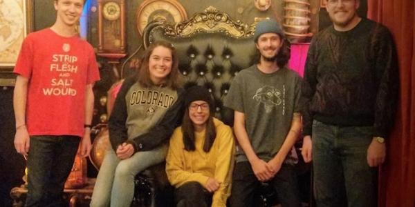 The team at a Boulder escape room, pre-coronavirus
