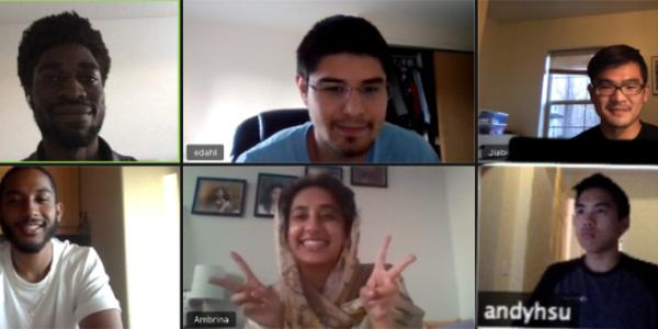 A Zoom meeting screenshot of the Medsonic team