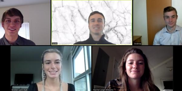 A Zoom meeting screenshot of the Mixed Signals team