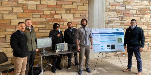 The Outatime team at the ECEE senior design expo